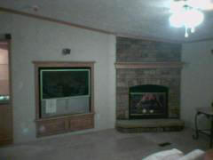 CLASSIC FIELDSTONE SURROUND AND T.V. COVER