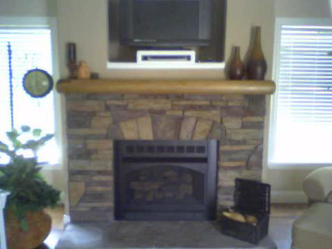 Canyon Surround with Log Mantel