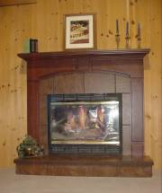 Aspen Surround with Raised Hearth
