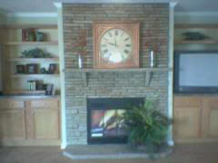 Calico Surround  With Wall Panel and Angle Hearth