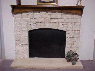 Austin Fan Surround With Pond Pine Arch Mantel
