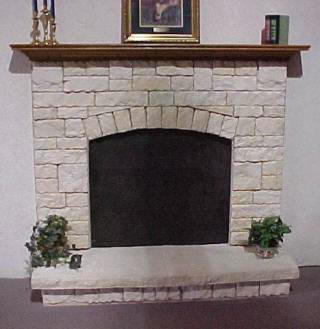 Classic Austin Fan Surround And Raised Hearth With Crown Mantel