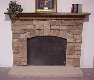 Classic Fieldstone 1 Key Fan Crown Mantel