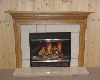 Honey Oak Savannah Surround With Tile Insert