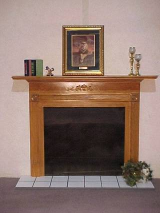 Indian Oak Plantation With White Tile Hearth